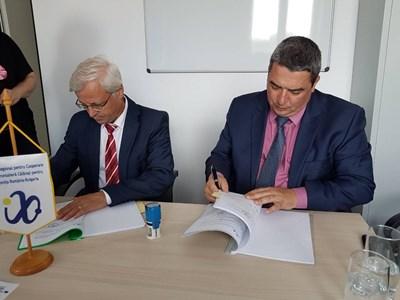 ИНж.Добромир Добрев и Георге Сиркуимаро подписаха договор за реализацията на проекта