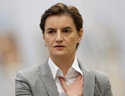 Премиерът на Сърбия Ана Бърнабич СНИМКА: Ройтерс