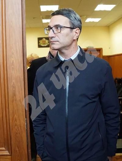 Трайчо Трайков, заснет в специализирания съд. СНИМКА: 24 часа