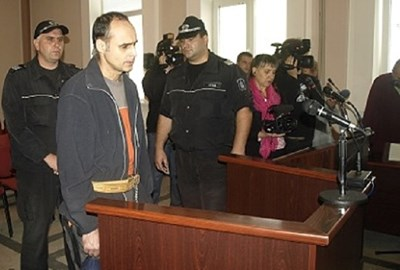 Пламен Джорлев по време на процеса срещу него през 2012 г. Снимки: Архив на автора.
