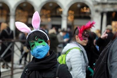 Прочутият карнавал във Венеция беше прекратен със заповед, за да се ограничи разпространението на коронавируса в Италия СНИМКИ: Ройтерс
