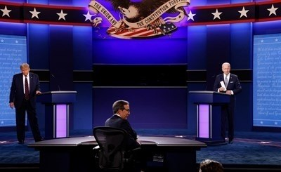 Първият телевизионен дебат между президента републиканец Доналд Тръмп и кандидата на демократите Джо Байдън е бил проследен от 73,1 милиона души СНИМКА: РОЙТЕРС