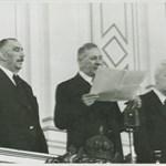 Тримата регенти от ляво на дясно: Цвятко Бобошевски, проф. Венелин Ганев и Тодор Павлов