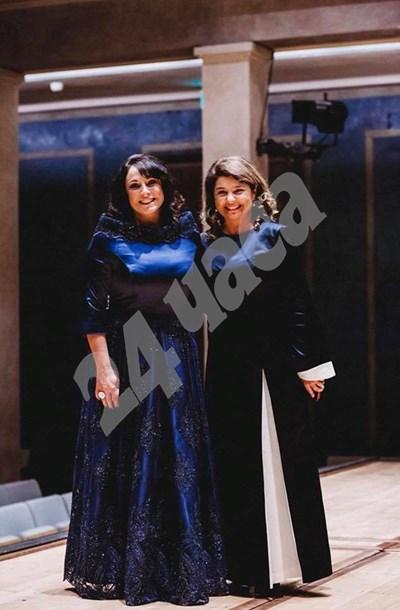 Солистката Лаурен Френсис и Любка Биаджони. СНИМКА: 24 часа