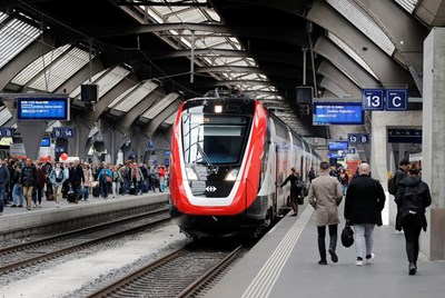 Влак на жп гарата в Цюрих СНИМКА: РОЙТЕРС