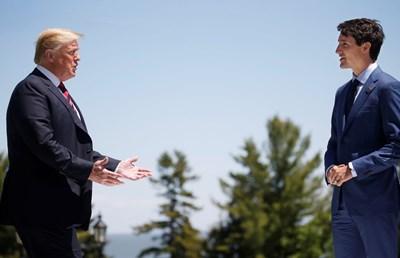 Доналд Тръмп и Джъстин Трюдо  Снимка: Ройтерс