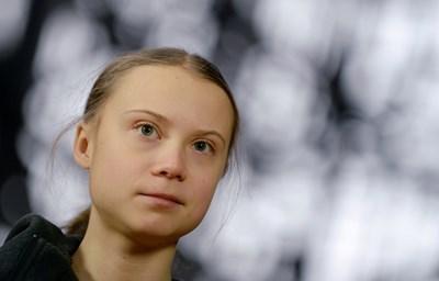 Шведската активистка за борбата с климатичните промени Грета Тунберг СНИМКА: Ройтерс