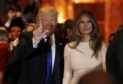 Доналд Тръмп със съпругата си СНИМКА: РОЙТЕРС