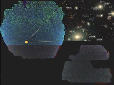 Астрономи публикуваха гигантска двуизмерна карта на Вселената