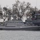 Задържаните украински кораби СНИМКА: Ройтерс