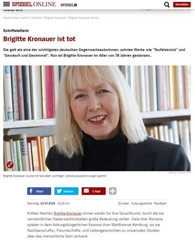 Бригите Кронауер Факсимиле: Spiegel online