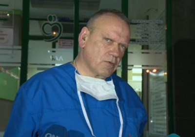 Д-р Антони Георгиев даде брифинг за състоянието на премиера в оставка Бойко Борисов. Кадър БНТ