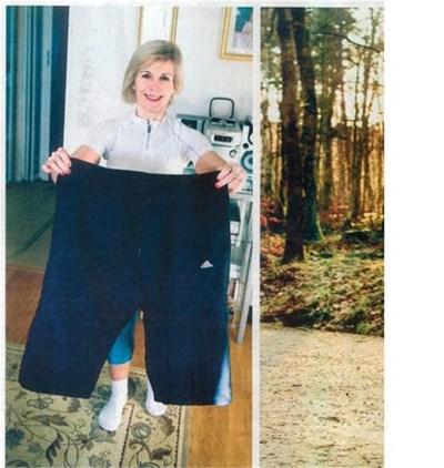 Жасмина показва стария си панталон. Снимки: Христо Рахнев и личен архив