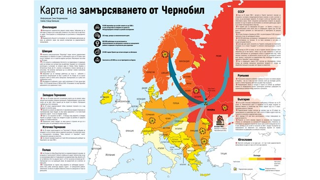 Chernobil Karta Na Radiaciyata V Evropa 168 Chasa