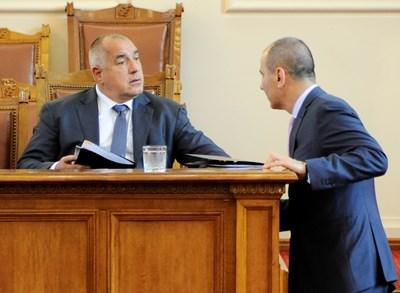 Цветанов и Борисов са готови и за двата вида избори. СНИМКА: Десислава Кулелиева