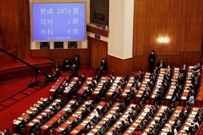 Великобритания, САЩ, Австралия и Канада обвиниха Пекин, че нарушава международните си задължения, след като китайският парламент прие спорен законопроект за сигурността в Хонконг. СНИМКА: Ройтерс