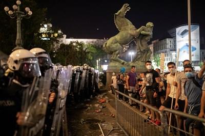 Протест в Белград СНИМКА: РОЙТЕРС