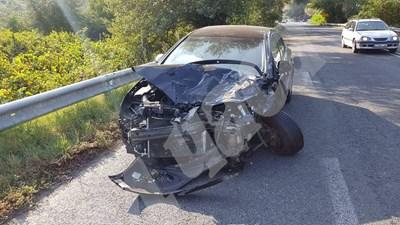 Колата от катастрофата край Струмяни СНИМКИ: Авторката СНИМКА: 24 часа