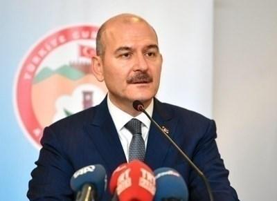 Вътрешният министър на Турция Сюлейман Сойлу СНИМКА: Ройтерс