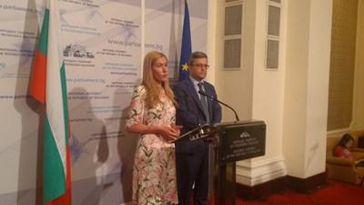 Николина Ангелкова и Тома Биков от ГЕРБ СНИМКА: Митьо Маринов