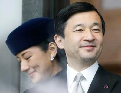 Принц Нарухито и съпругата му Масако СНИМКА: Ройтерс