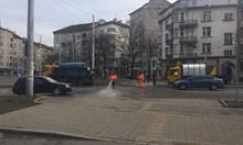 За 2 месеца измиха 788 дка улици в София