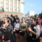 Кадри от протеста тази вечер Автор: Николай Литов