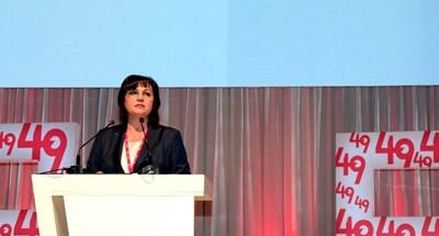Заседанието на 49-ия конгрес в неделя ще реши съдбата на лидерката Корнелия Нинова. СНИМКА: Десислава Кулелиева