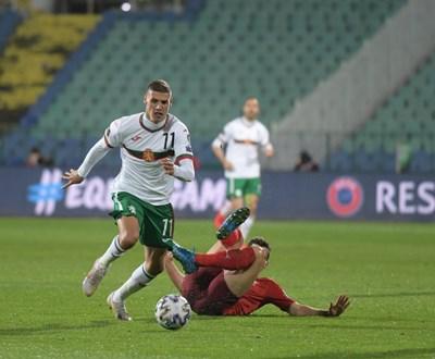 Кирил Десподов вкара единствения гол за България в трите мартенски световни квалификации.
