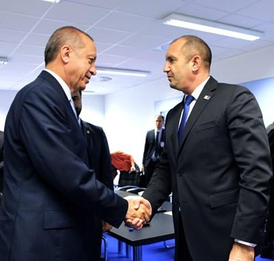 Ердоган и Румен Радев СНИМКИ: Прессекретариат на президента