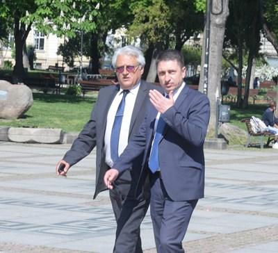Бойко Рашков (вляво) и Христо Терзияски СНИМКА: Йордан Симeонов