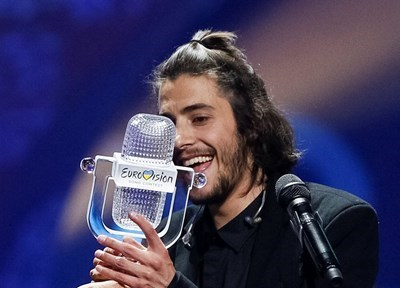 Победителят от Евровизия Салвадор Собрал СНИМКА: Ройтерс