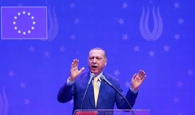 Президентът на Турция Реджеп Ердоган  СНИМКА: Ройтерс