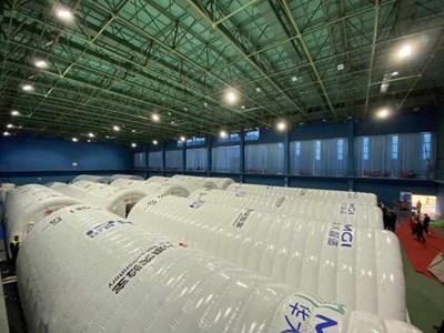 Надуваеми лаборатории помагат в масовото тестване за COVID-19 в Китай