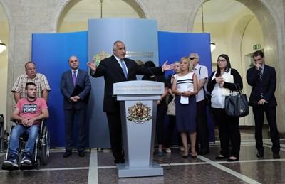 Премиерът Бойко Борисов обеща допълнителни 150 млн. лв. за догодина. СНИМКА: Пресслужба На Министерския Съвет