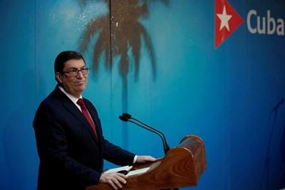 Кубинският външен министър на пресконференция в Хавана  СНИМКА: Ройтерс
