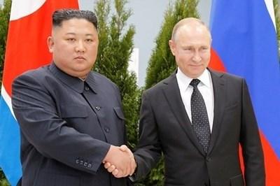 Ким Чен Ун и Владимир Путин  СНИМКА: Ройтерс