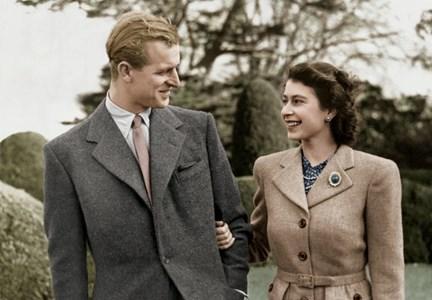Принц Филип и Елизабет ІІ по време на своя меден месец