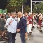Кадър от видеото с Христо Иванов и Димитър Ламбовски
