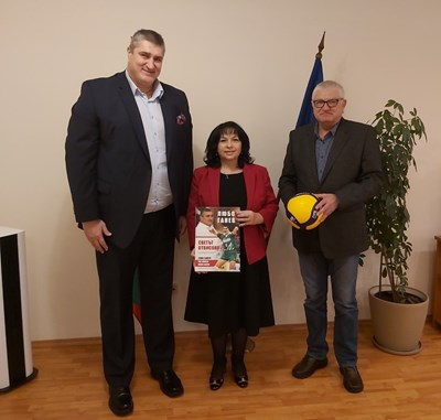 Любо Ганев, Теменужка Петкова и Петър Кънев Снимка: сайт на федерацията