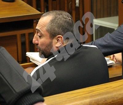 Димитър Желязков-Митьо Очите, заснет в специализирания съд. Снимка: Йордан Симеонов