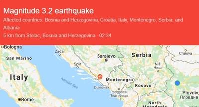 6-ти трус в Босна и Херцеговина от 30 август насам
