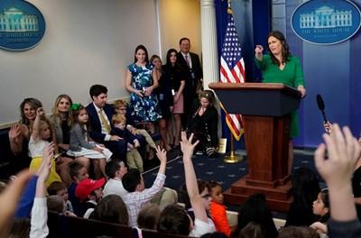 Говорителката на Белия дом Сара Сандърс Снимка: Ройтерс