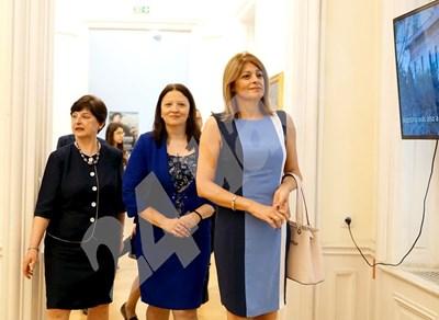 Двете първи дами днес разгледаха заедно София Снимки: Десислава Кулелиева СНИМКА: 24 часа