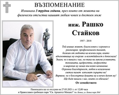 инж. Рашко Стайков