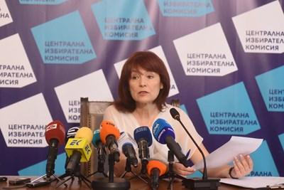 Зам.-председателят и говорител на ЦИК Росица Матева Снимка: Велислав Николов