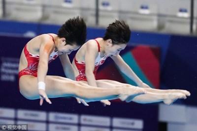 Два от медалите бяха спечелени в състезанията по скокове във вода. СНИМКА: bulgarian.cri.cn