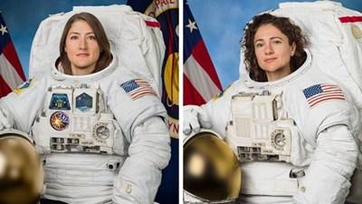Кристина Кук и Джесика Миър Снимки: НАСА