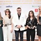 """Проф. Любомир Стойков с първите носителки на приза """"Изгряваща звезда"""""""