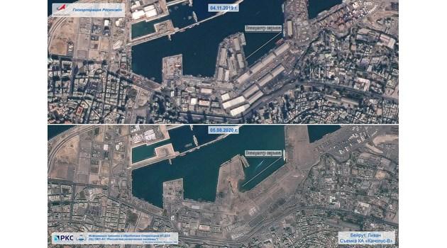 Вижте опустошението на Бейрут от Космоса (Снимка)
